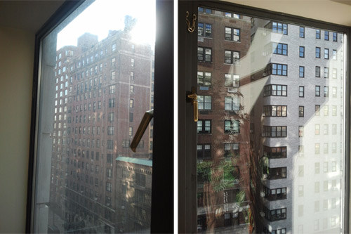 Window cleaning - Hard water stains removal.